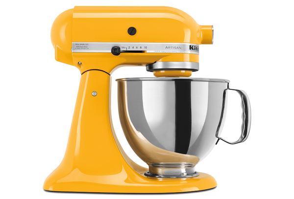 KitchenAidYellowPepperStandMixer