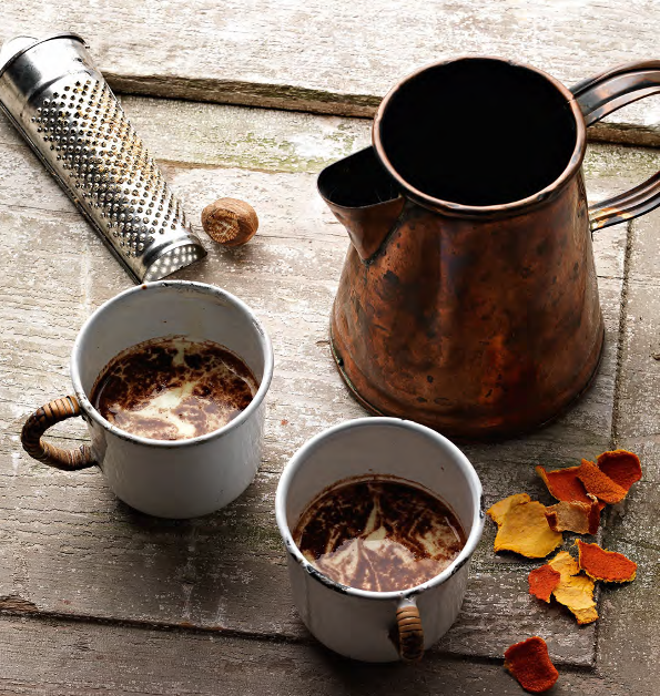 Tangerine and nutmeg hot chocolate