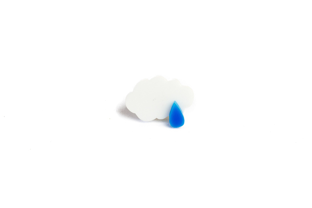 2. A fluffy white cloud and a single blue raindrop make this ring a cute and colourful accessory on an otherwise grey day, £6.00,   Folksy  .