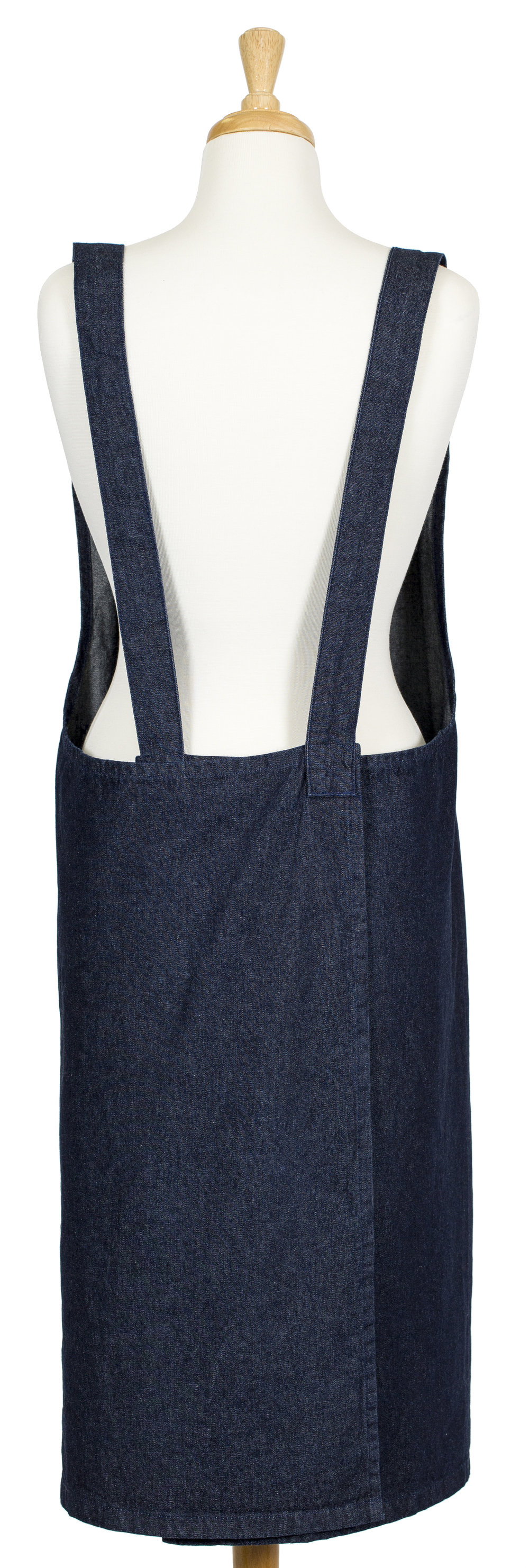 The Stitch Society Denim Susie Pinafore Apron back.JPG