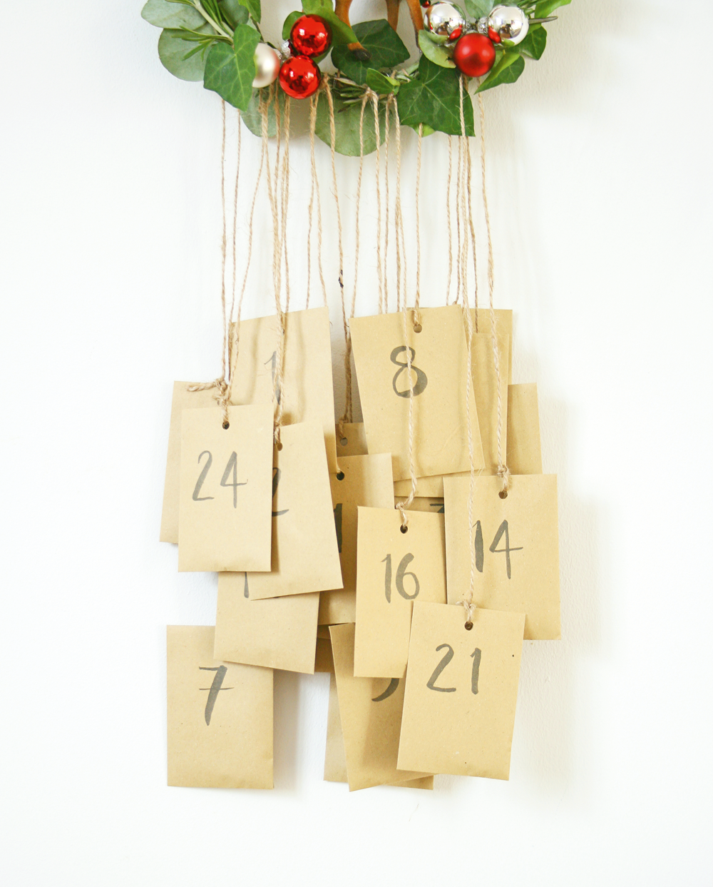 Carefully hang your advent calendar in its final position and let the countdown begin.