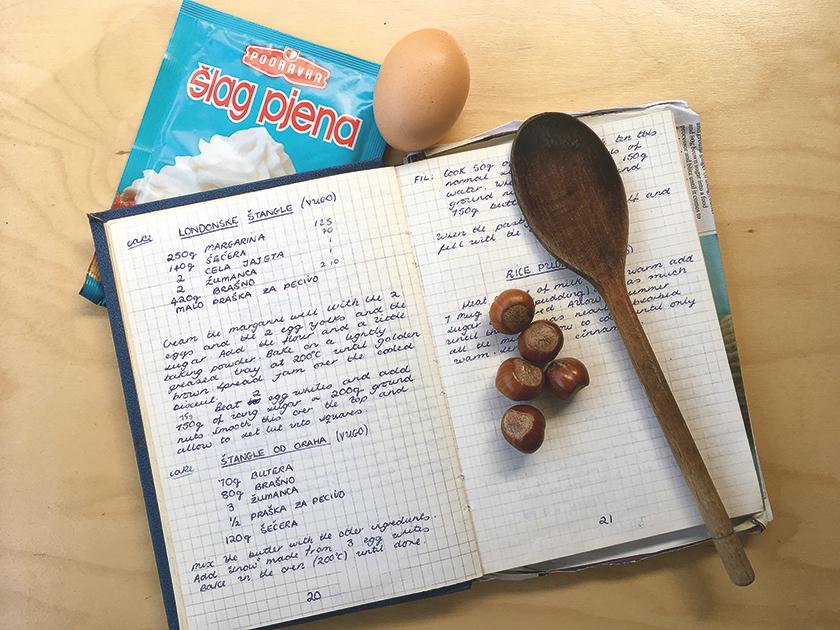 My hand-written recipe book by Jacqui Hitt