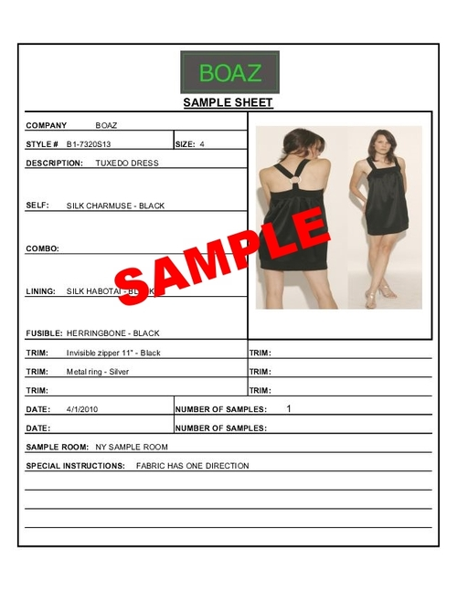 Sample Sheet Form — Human B