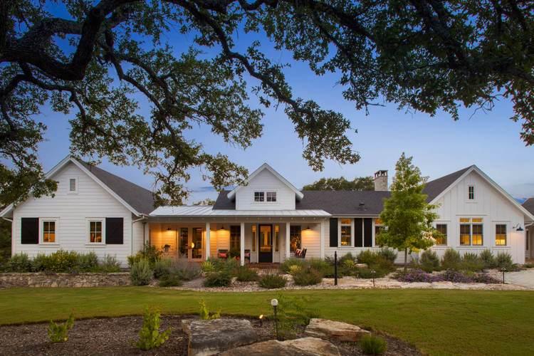 Farmhouse Exteriors elegant farmhouse — vanguard studio, inc. austin, texas architect