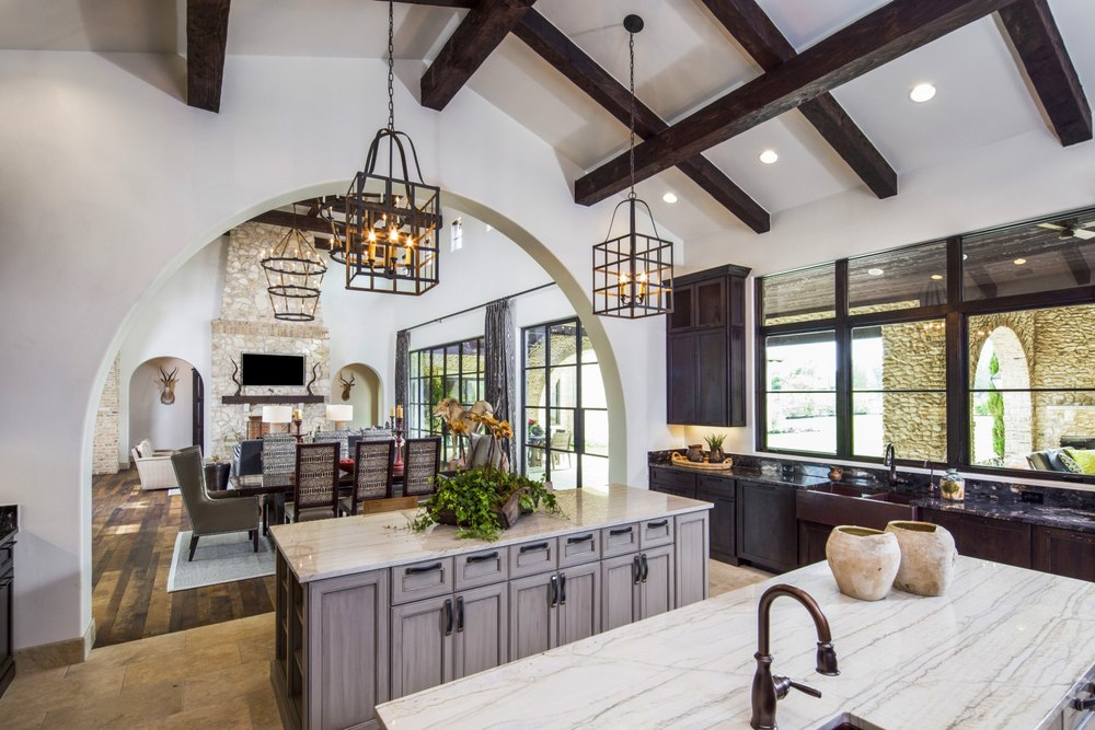 Architecture Home Rustic villa kitchen