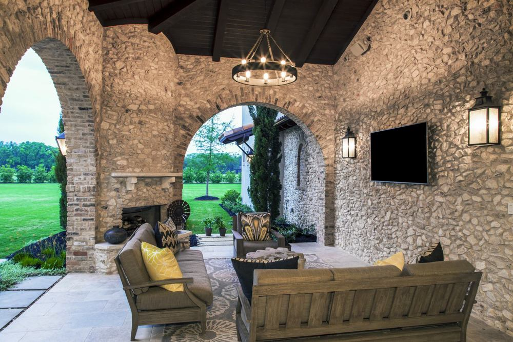 Architecture Home Rustic villa patio