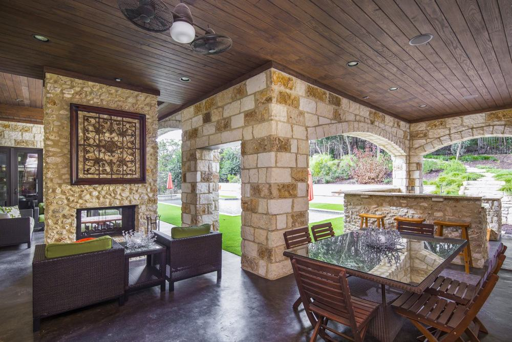 Architecture Home French contemporary outdoor living
