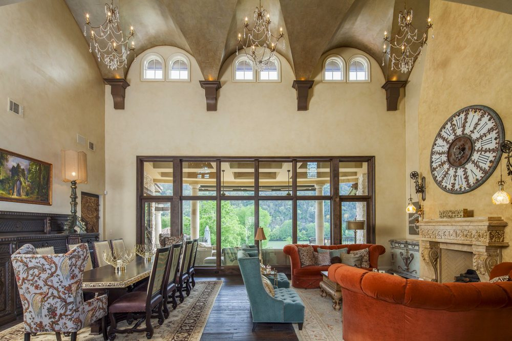 Architecture Home Eclectic old world family dining room