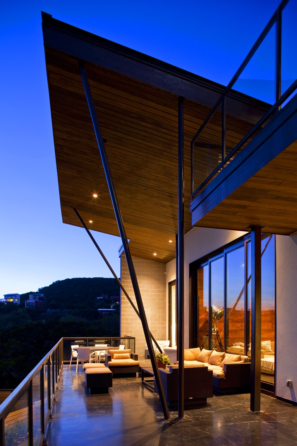 Architecture Home Modern Industrial patio balcony