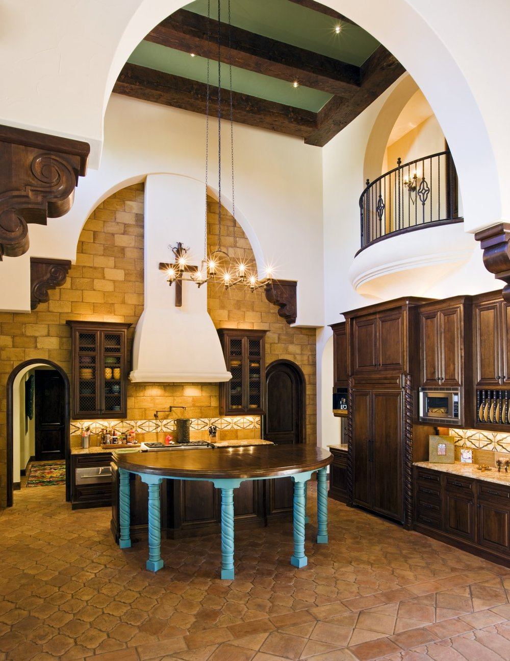 Architecture Home Spanish Villa kitchen