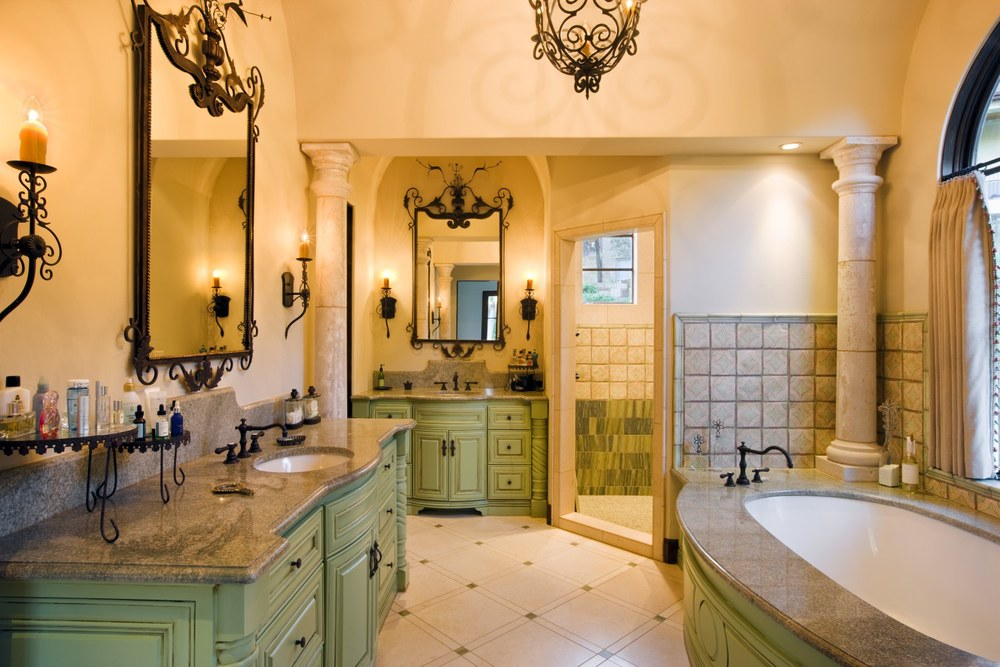 Architecture Home Spanish Villa bathroom