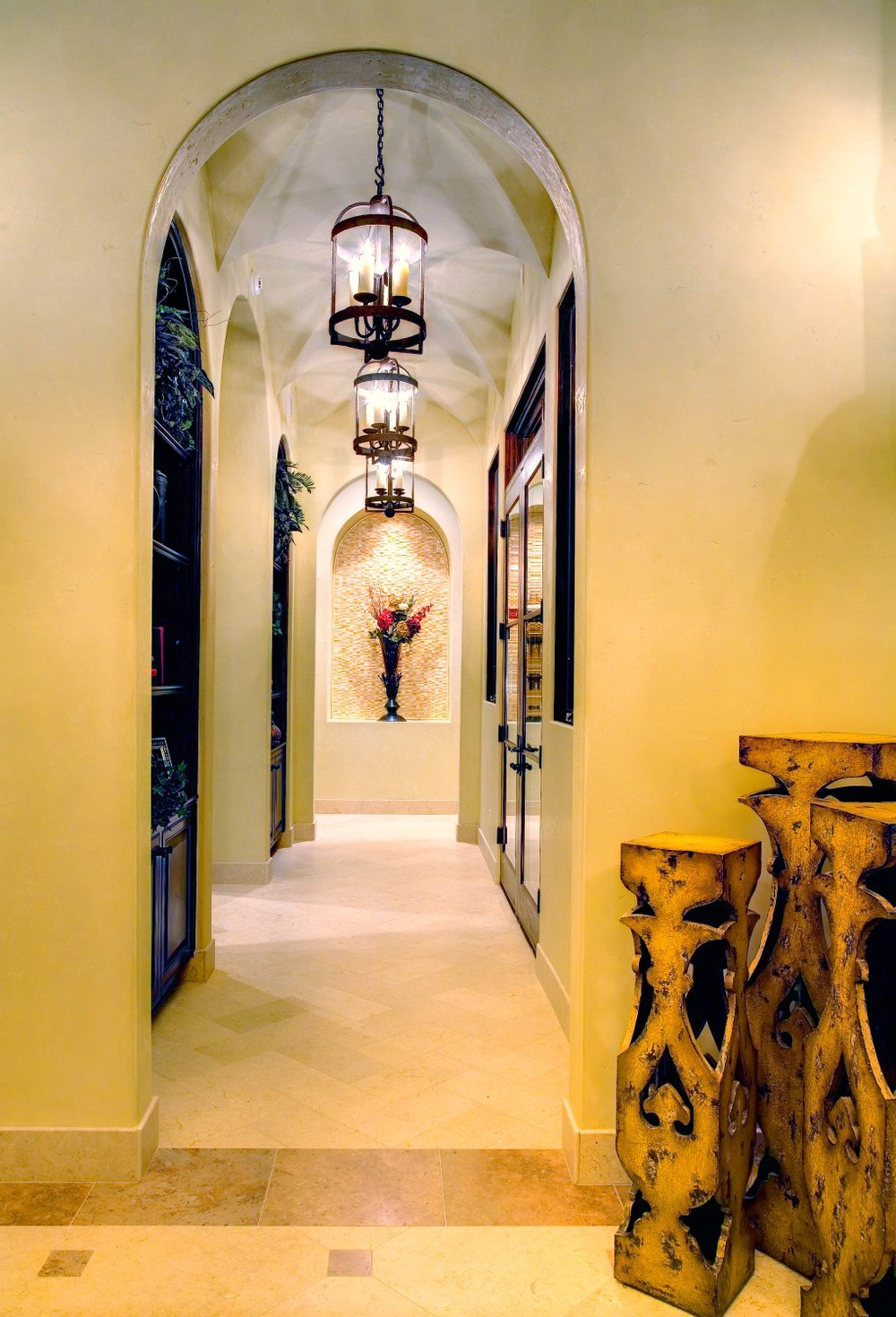 Architecture Home Courtyard retreat hallway