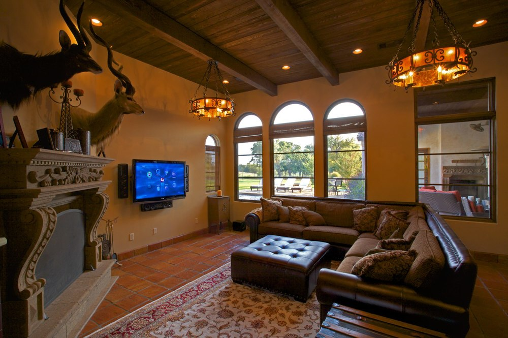 Architecture Home Cimarron hacienda game room