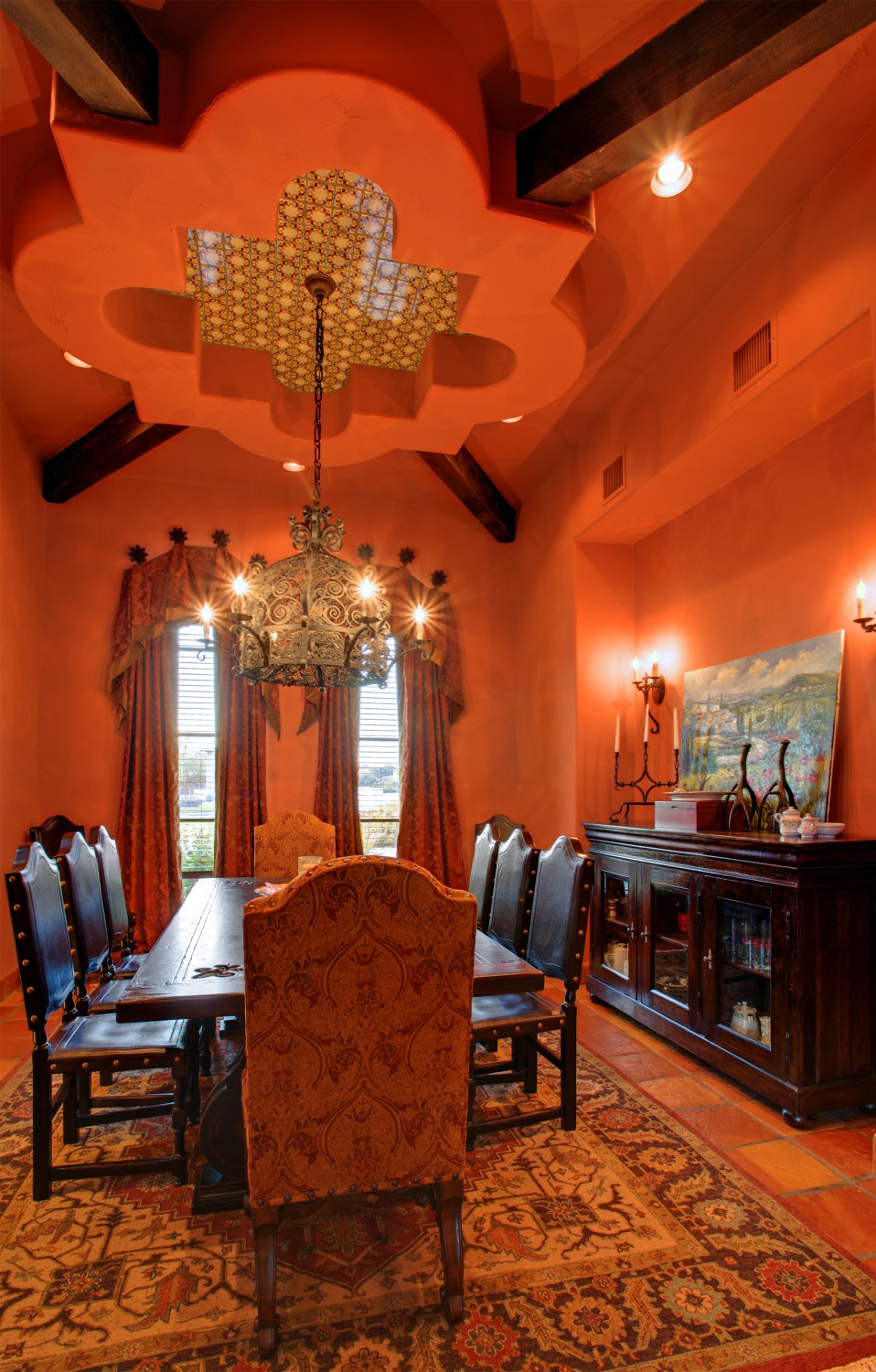 Architecture Home Cimarron hacienda dining