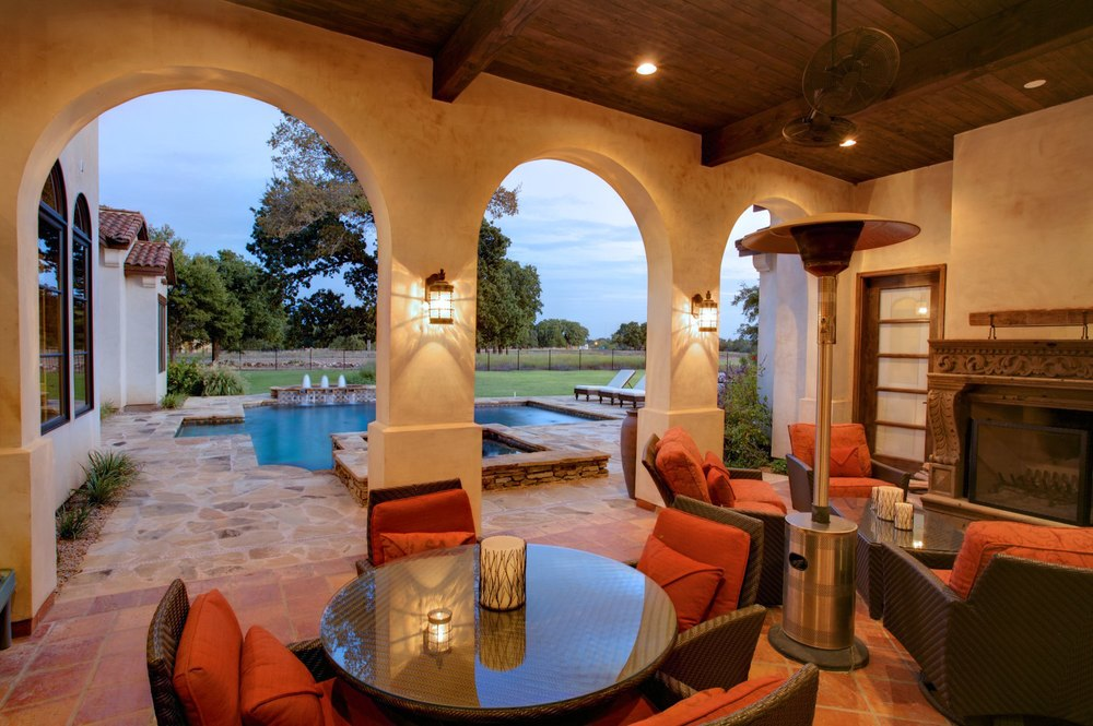 Architecture Home Cimarron hacienda patio