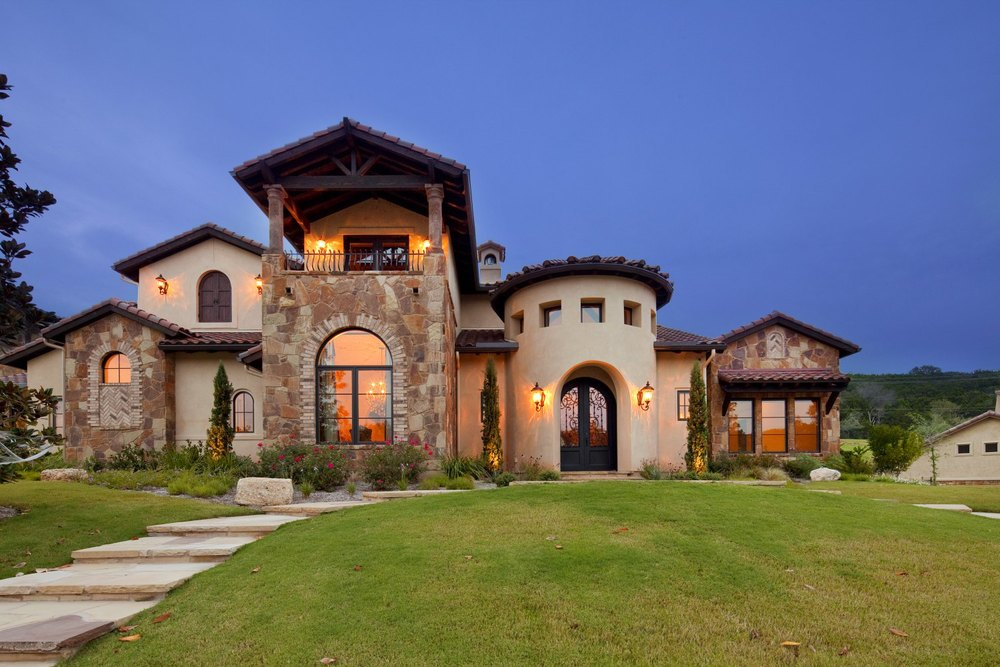 Texas Tuscan on custom mediterranean mansions