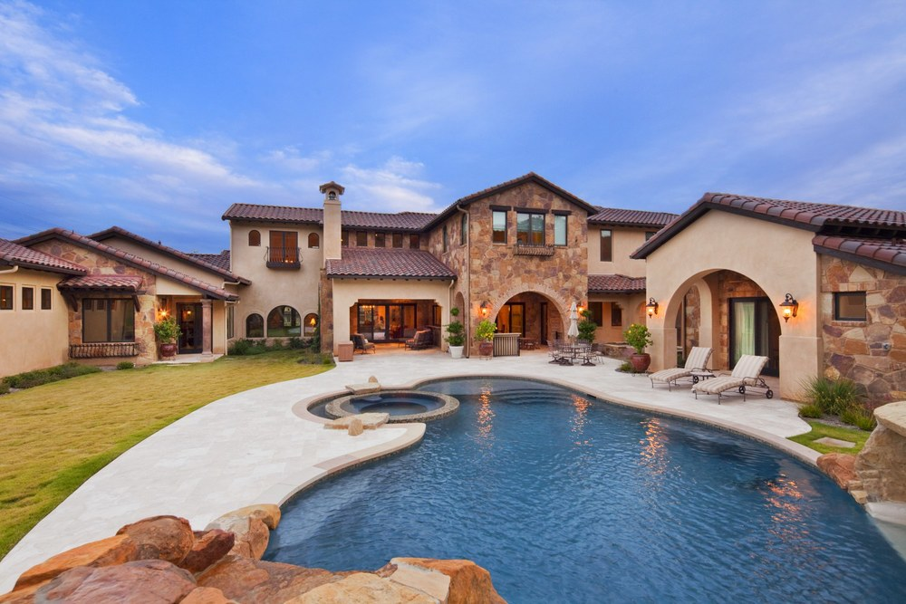 Architecture Home Texas tuscan pool