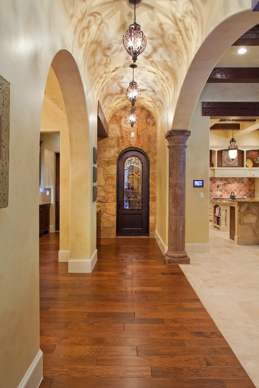 Architecture Home Texas tuscan hallway