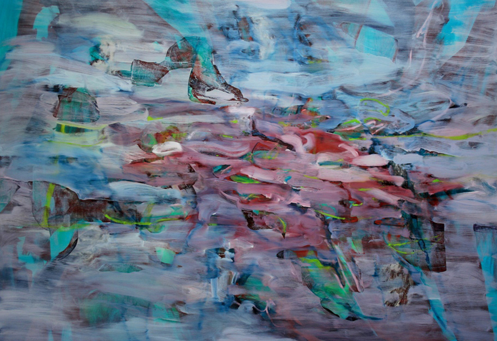 Untitled (turquoise)  2006  oil on canvas  165 x 235 cm