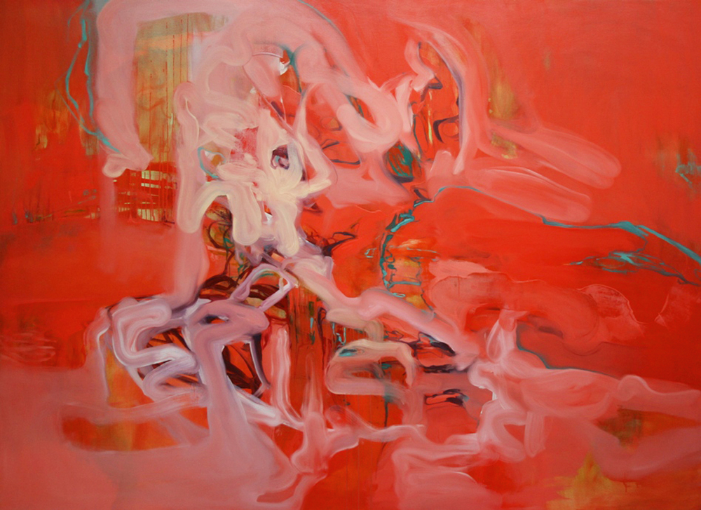Untitled (vermillion)  2006  oil on canvas  160 x 220 cm