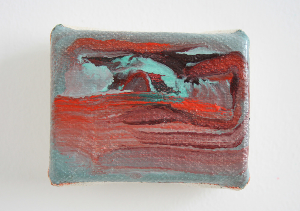 Untitled mini painting I  2010-2015  oil on canvas  5 x 6 cm  sold
