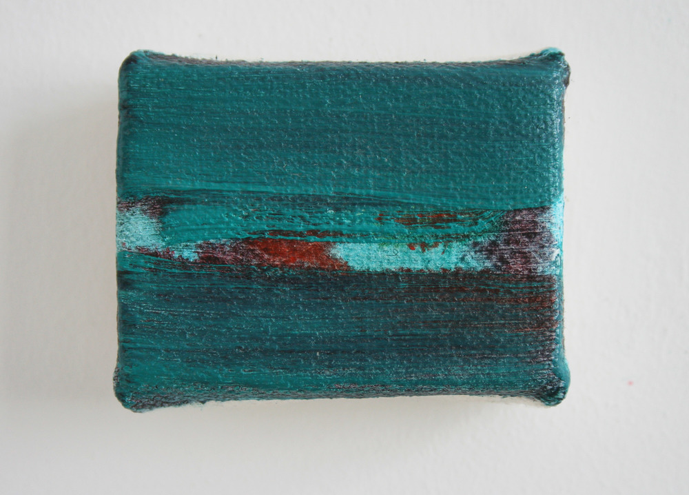 Untitled mini painting III  2010-2015  oil on canvas  5 x 6 cm  sold