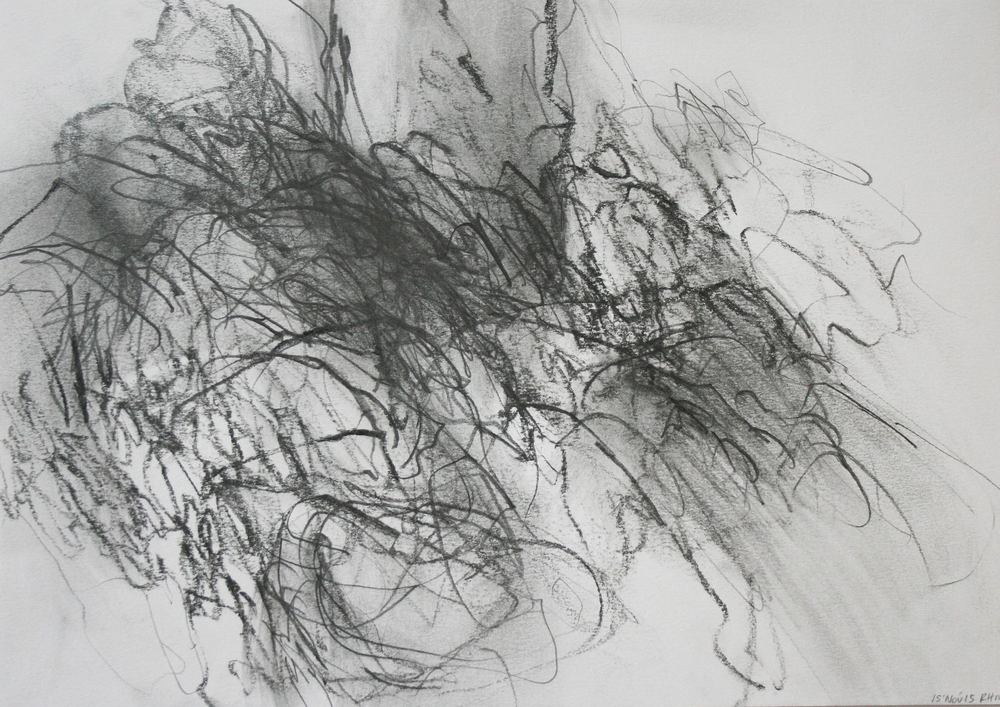 Left hand Drawing VIII  November  2015  graphite on paper  21 x 30 cm