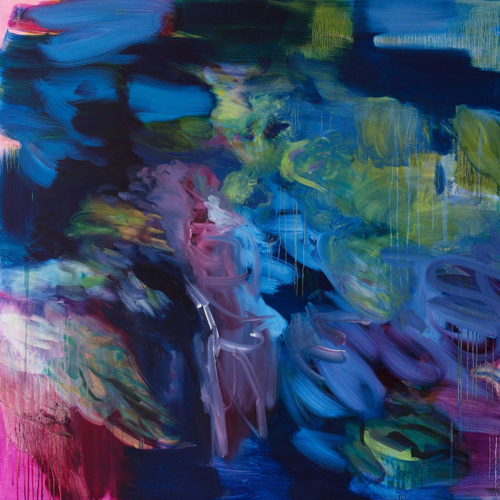 Untitled  (phlalo-irgazine-  magenta)  2016  oil on canvas  145 x 145 cm