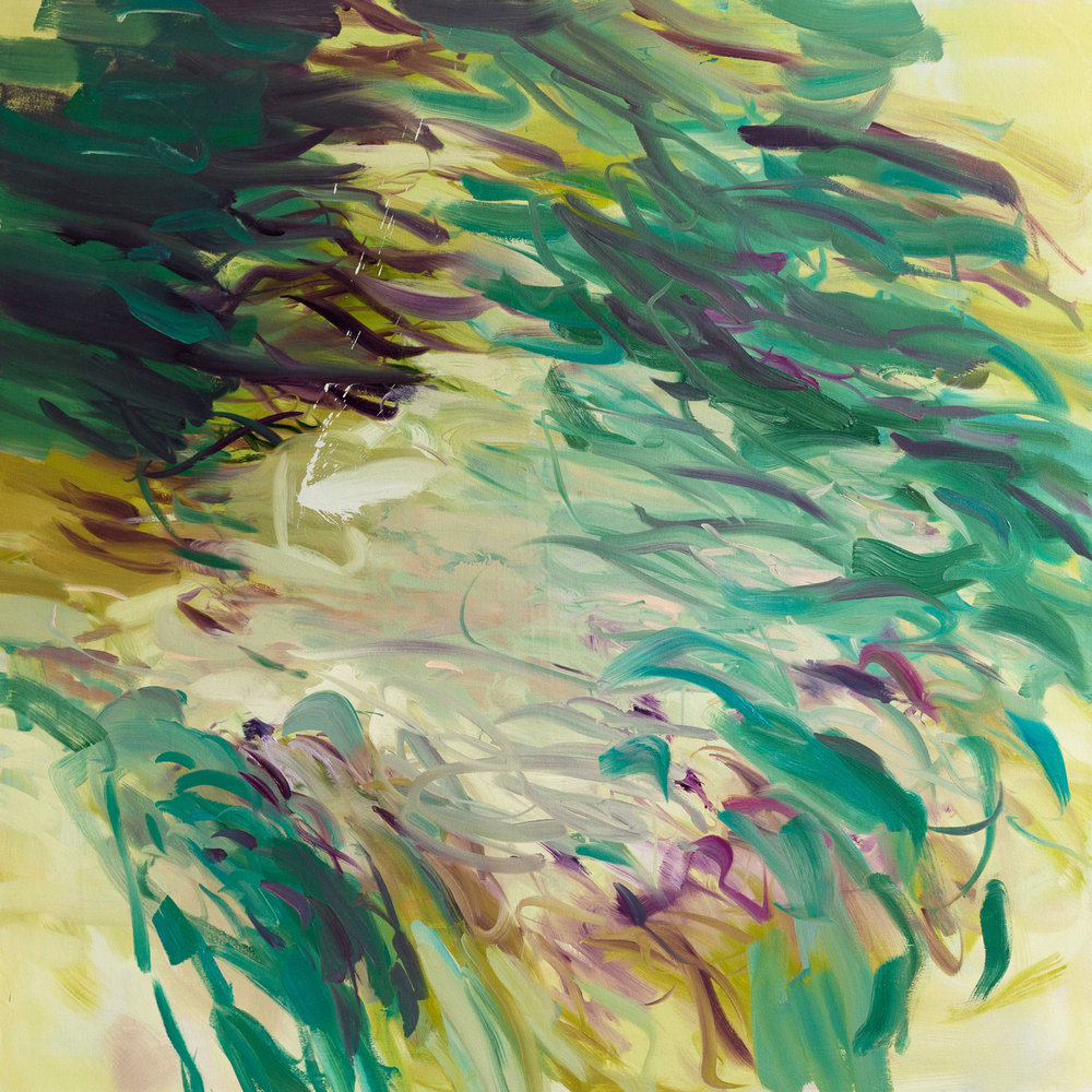 Untitled  (green)  2016  oil on canvas  145 x 145 cm