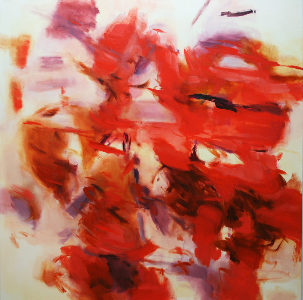 Untitled  (vermillion)  2017  oil on canvas  145 x 145 cm