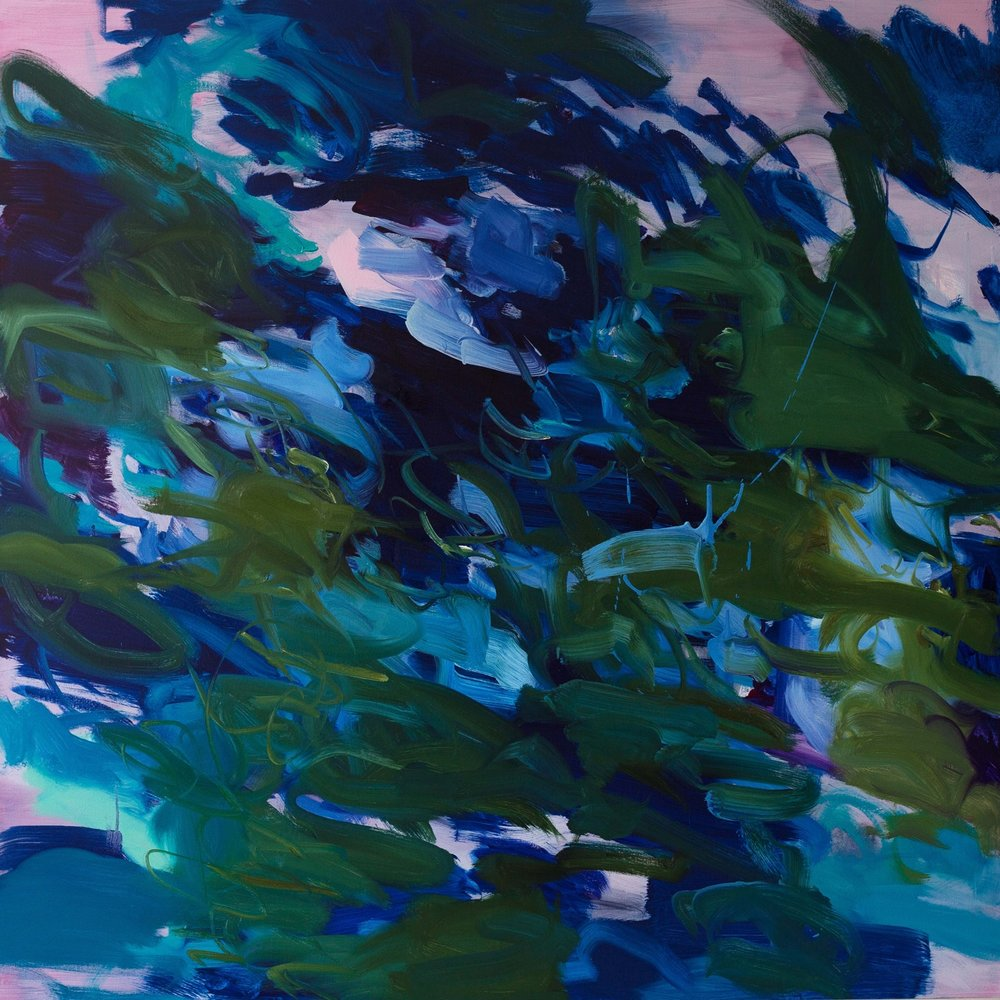 Untitled  (phlalo-irgazine  -turquoise)  2016  oil on canvas  145 x 145 cm