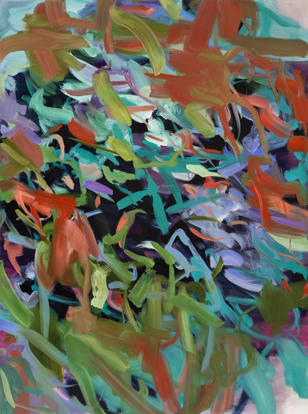 Burst  2018  Oil on canvas  199 x 148cm