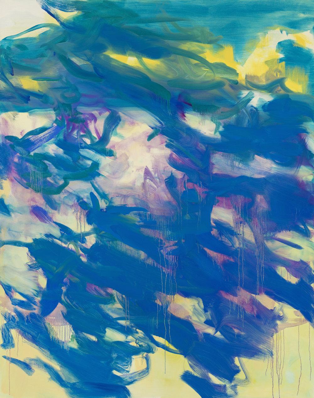 Blue Rapture  2017  Oil on canvas  190 x 150cm