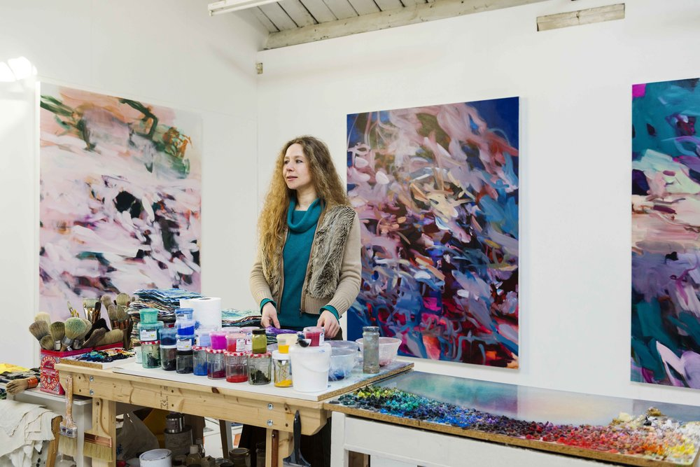Rebecca in her new studio, 2018