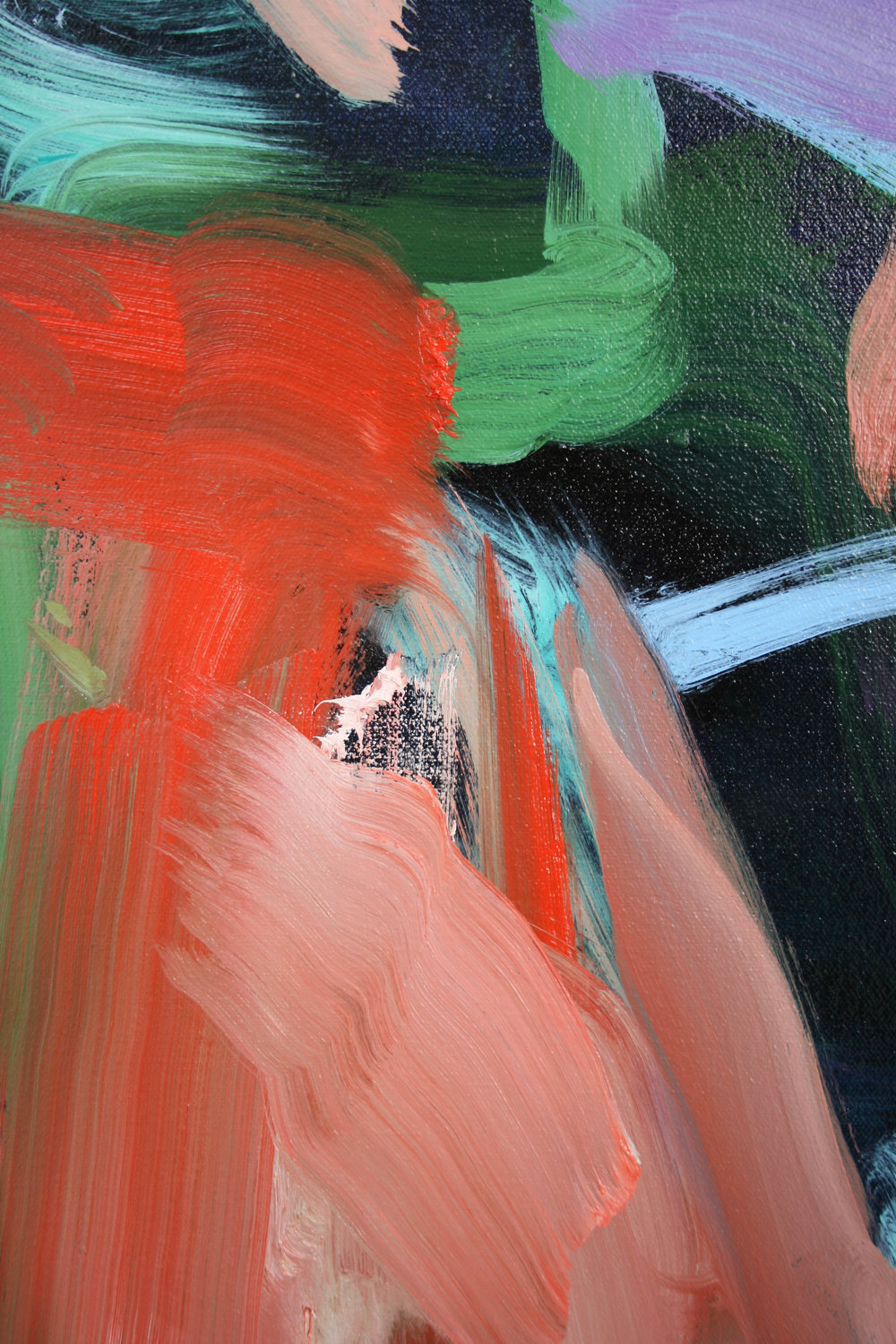 Burst  2018  oil on canvas  detail