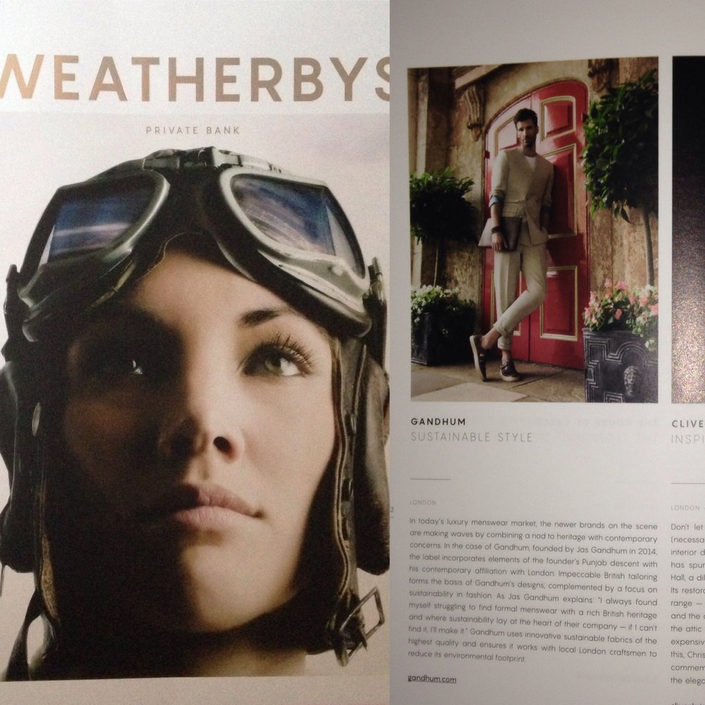 GANDHUM Editorial in the first edition of Weatherby's magazine