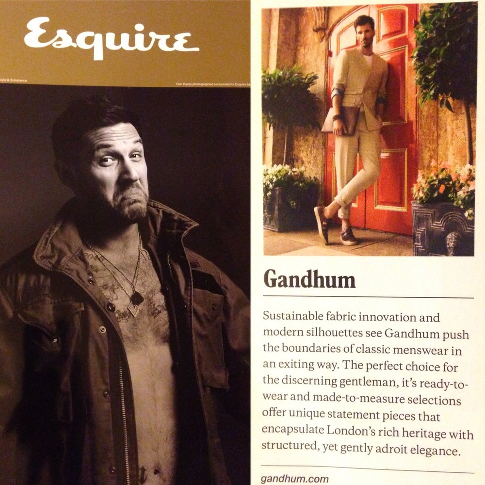 GANDHUM featured in the Esquire Jan/Feb 2017 issue