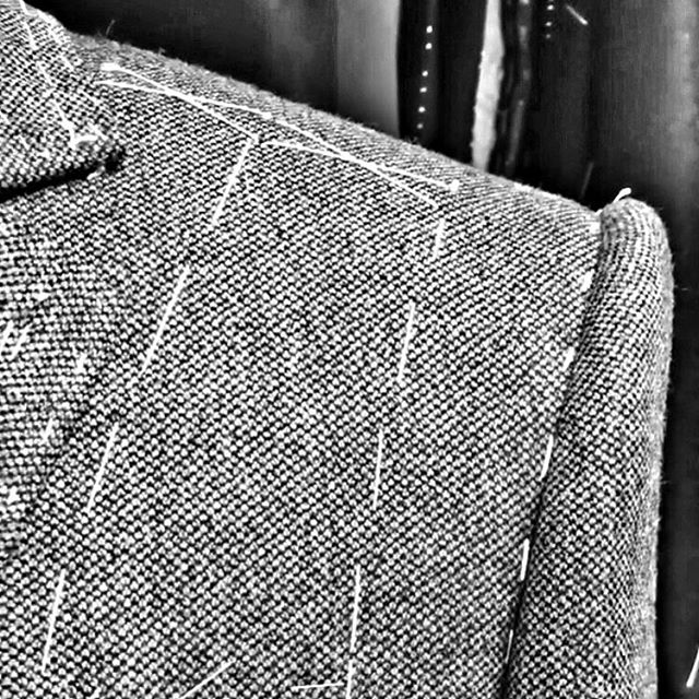 The fine art of tailoring - get that shoulder just right 👌 . . . #gandhum #menswear #tailoring #menstyle #suiting #jacket #blazer #shoulder #construction #bespoke #custom #luxury #perfection #photooftheday #mensfashion #london #londonstyle #classic #suits #tailor #bespokesuit #esquire #gq #therake