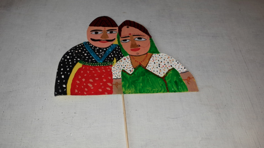 Shayan is from Maldieves, and is quite fascinated with the Indian traditions,  so he made this marriage couple fully decorated puppet.  This is the kind of wedding that he wants to have!!!