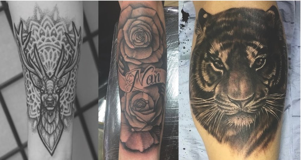 Tattoo Galleries - We cater to all styles of tattooing so there is artist for everyone. From Traditional tattooing to Realism. Click the buttons below to view tattoo portfolios.