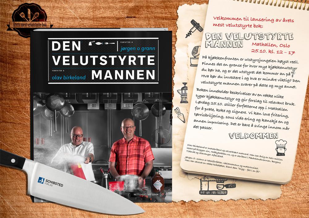 Lørdag 25/10 kan du møte Olav og Jørgen i Mathallen (kl 12-17) hvor de kommer for å prate, signere bøker og koke.