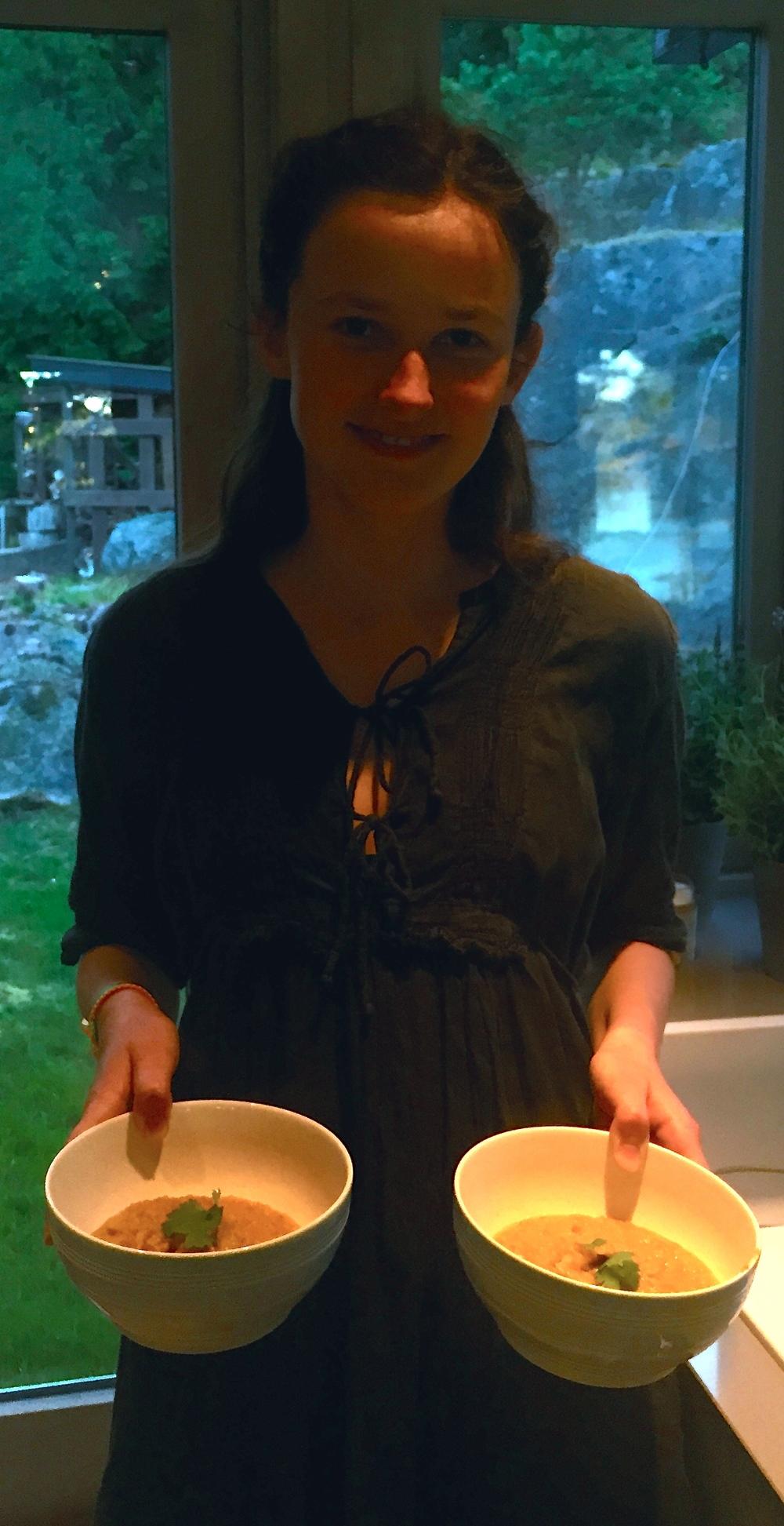 Catharina hyttenabo, 15 år og nesten helt vegetarianer. Foto: Sissel, Mammaen til Catharina