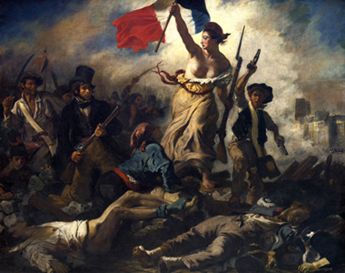Eugene Delacroix,  Liberty Leading the People , 1830