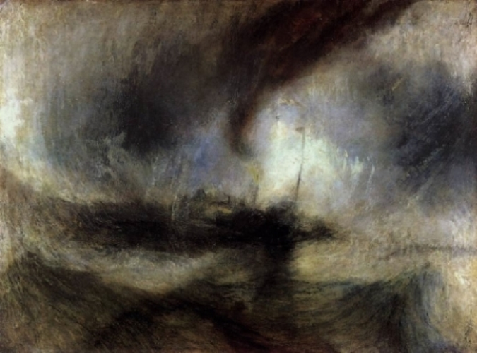 J.M.W. Turner,  Snow Storm Steam Boat Off Harbor's Mouth , c 1842
