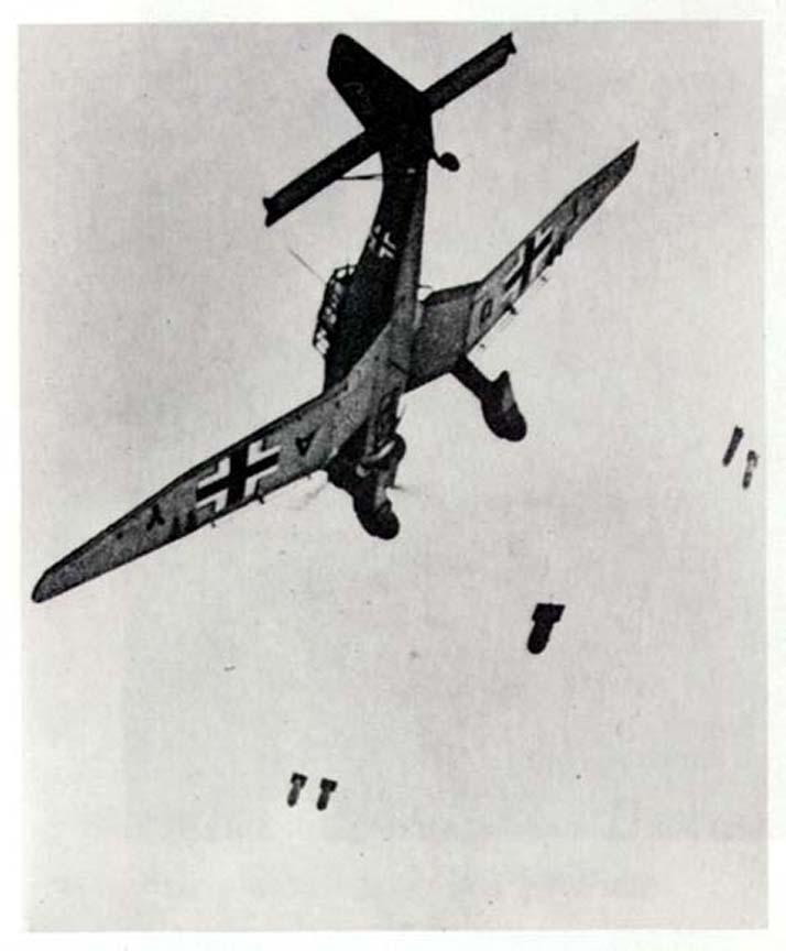 The Ju-87 Stuka dive-bomber