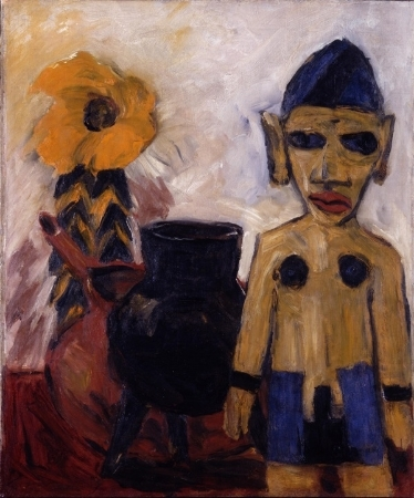 Emil Nolde,  Still Life With Carved Wooden Figure , 1911