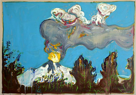 Billy Childish,  Erupting Volcano,  2011