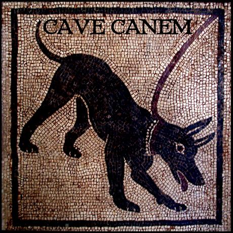 Pompeii dog cave_canem_framed_tile.jpg