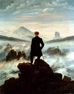 Caspar David Friedrich,  Wanderer Above the Sea of Fog , 1818