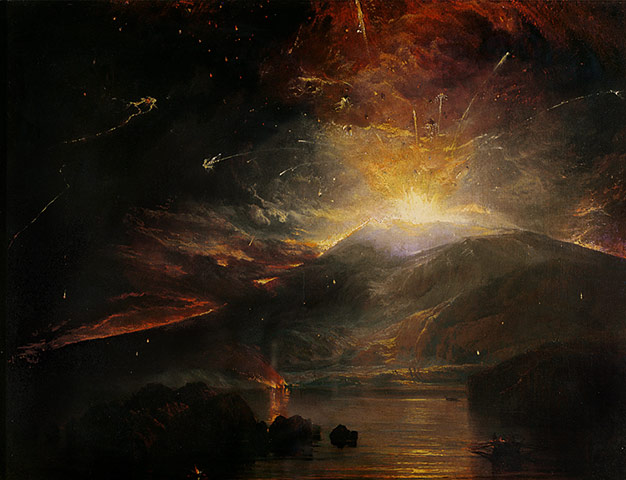 The Eruption of the Soufriere Mountains in the Island of St. Vincent,  1812